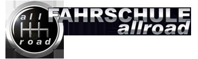 FAHRSCHULE allroad Logo mit Schriftzug